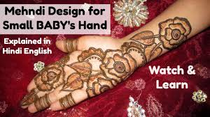 Small Picture Mehndi Designs for Small Babys Hand Rose Flower Leaf Henna