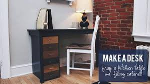 DIY Kitchen Table to Desk Project