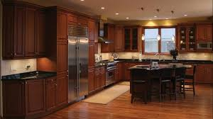 Kitchen Awesome Modern Kitchen With Wooden Floors And Tiny Maple