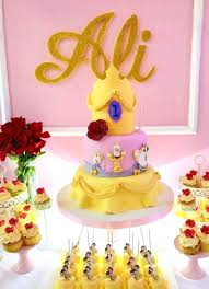 Belle Birthday Decorations Beauty And The Beast Birthday Cake Ideas Belle Birthday Party 45