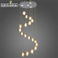 modern stairwell lighting. aliexpresscom buy 18 lights modern led crystal chandelier light fixture bubble ball loft stairwell meteor shower cristal lamp from reliable lighting