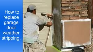how to replace garage door weather stripping weather seal trim