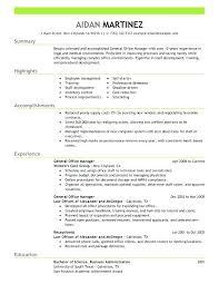 Hotel General Manager Resume Samples Sample Resume For General