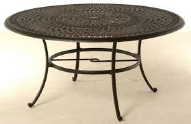 bella by hanamint luxury cast aluminum 60 round dining table w inlaid lazy susan