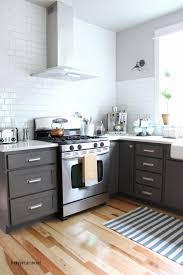 painting kitchen cabinets black before and after fresh kitchen cabinet colors before