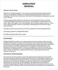 Free Employees Handbook Employee Handbook Template On Template Free Employee