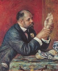 of the dealer vollard caressing a statuette