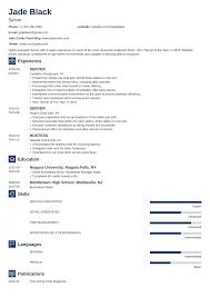 Sample Food Server Resumes Server Resume With Examples Of Skills Job Description