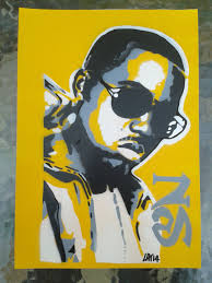 Nas stencil painting on card,spray paints,hip hop,urban art,rap