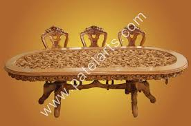 indian carved dining table. wooden dining tables, carved sets, table india, wood indian d
