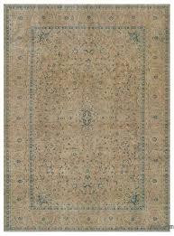 beige oversize vintage rug 9 7 x 13 2