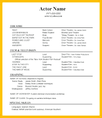actor resume no experience kids acting resume child acting resume sample example no experience