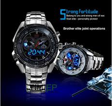 aliexpress com buy hot watch men top brand luxury steel watches aliexpress com buy hot watch men top brand luxury steel watches led digital quartz chronograph watch 30m waterproof dive sports military watches from