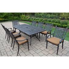 vandyne 9 piece patio dining set with cushions piece patio dining set51