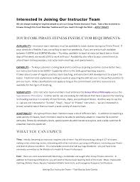 Collection Of Solutions Group Fitness Instructor Cover Letter In