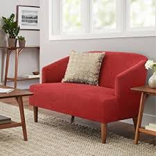 mid century modern loveseat. Better Homes And Gardens Reed Mid Century Modern Loveseat, Tomato Loveseat X