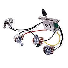 amazon com wiring harness prewired with a500k b500k pots for Wiring Harness Guitar wiring harness prewired with a500k b500k pots for stratocaster strat guitar wiring harness guitar gibson es-137