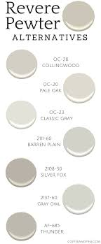 Benjamin Moore Light Pewter Vs Classic Gray Revere Pewter Alternatives Paint Colors For Home Revere