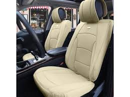 car suv truck pu leather seat cushion covers front bucket seats beige