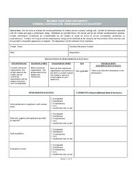 Supplier Performance Evaluation Form Template Sample Vendor Forms 9 ...