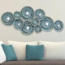 decorative waves metal wall d cor on teal blue metal wall art with metal wall art