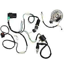 amazon com minireen kick start dirt pit bike wire harness wiring Spark Plug Gasket at Spark Plug Wire Harness
