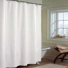 solid white microfiber shower curtain or liner