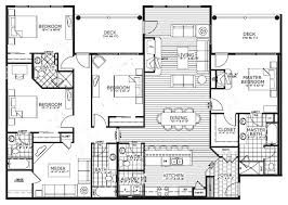 4 Bedroom Floor Plans One Story 59144 Bedroom Townhouse Floor Plans