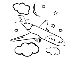 Small Picture Simple Airplane Coloring Pages GetColoringPagescom