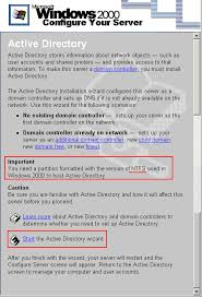 Windows 2000 Server Configure Active Directory