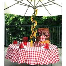 checd table cover red gingham tablecloth with umbrella hole round plastic poly check
