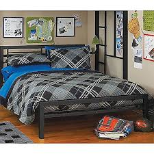 Amazon.com: Black Full Size Metal Bed Platform Frame, Great Addition ...