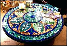 stained glass stained glass mosaic table tops top my new design tabletop designs round broken