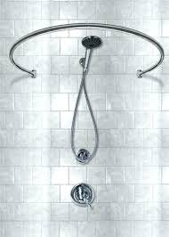 sloped ceiling shower rod wall mounted