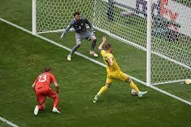 ยูเครน' ทำสถิติยิงให้ตัวเอง! บุกมันครึ่งแรกนำ 'นอร์ธ มาซิโดเนีย' 2-0
