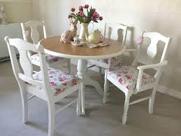 shabby chic round dining table and chairs farmhouse table and chairs chic kitchen dining table and shabby chic round