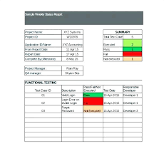 Free Project Status Report Template Or Format Word Sample