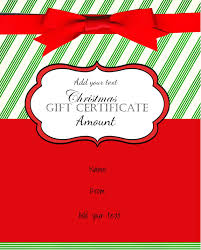 Christmas Voucher Template Free Christmas Gift Certificate Template Customize Online Download 1