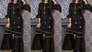Black Sharara Designs Sharara Latest Black Sharara Dress Designs For Girls Sharara Suits Collection 2019
