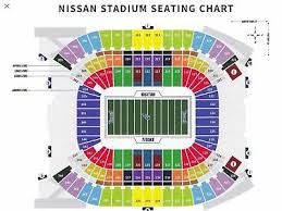 Titans Stadium Seating Chart Houston Texans At Tennessee Titans 2 Tickets Section 104