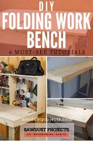 diy folding work bench 6 must see