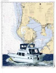 Boat Chart Custom Passage Art And Chart Art Featuring Your Boat And A