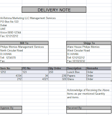 Excel Delivery Delivery Note In Excel Learning Centers Learning Home