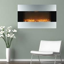 caesar fireplace wfp 38 38 inch wall mount electric fireplace with stone pebbles and flame effect 1500w adjustable temperature w remote control silver