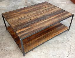 ... Coffee Table, Remarkable Teak Rectangle Modern Wood And Iron Coffee  Table With Storage Design Ideas ...