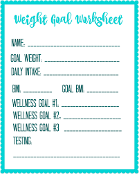 Weight Loss Worksheets Pin On Freebies