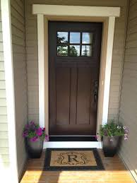we can paint our front door chestnut and then add a new screen door wooden door