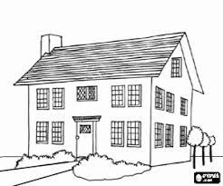 Kleurplaat Een Groot Huis Met Twee Verdiepingen Kleurplaten