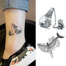 Velrybí žraloky Moře Zvířata Dočasné Tetování Samolepka Vodotěsné ženy Falešné Tělo Umění Paže Děti Ruce Tetování