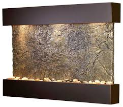Reflection Creek Wall Fountain, Copper/Slate contemporary-indoor-fountains